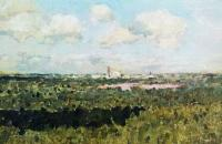 Вид на Новодевичий монастырь. 1898-1899