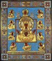 Чудотворная Коренная Курская икона в окладе