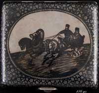 Портсигар (серебро, чернь)
