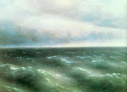 На Чёрном море начинает разыгрываться буря. 1881 (И.К. Айвазовский)