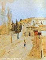 Улица в Ялте. Этюд. 1886