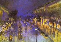 Бульвар Монмартр ночью (Камиль Писсарро)