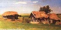 Пейзаж с избами. 1885
