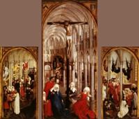 "Фреска ""Семь таинств"". Триптих. 1460 год"