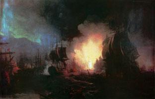 Чесменское сражение (И.К. Айвазовский)