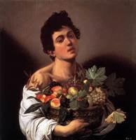 """Картина Караваджо """"Юноша с фруктами"""""""