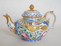 Чайник с изображением птицы Сирин (фарфор, 1920 г.)