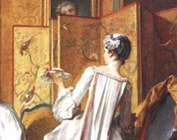 Дама и служанка (Ф. Буше, 1742 г.)