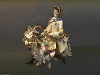 Человек на козле (статуэтка, майсенский фарфор)