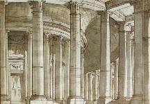П.Гонзага. Эскиз декорации Храм