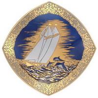 Блюдо (Златоустовская гравюра на стали)