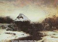 Зимний пейзаж с мельницей. 1884