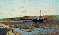 Волга. Баржи. 1890-е