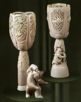 1987. Скульптура Охота на медведя