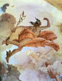 Гермес (Дж. Тьеполо, фреска)