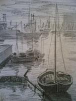 Воздушная перспектива (рисунок карандашом)