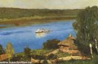 Пейзаж с пароходом. Конец 1880-х