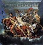 Венера и три Грации, обманывающие Марса - Жак Луи Давид