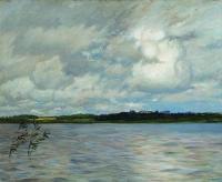 Озеро. Серый день. 1895