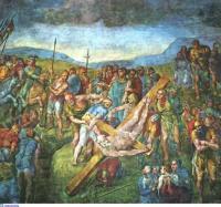 МИКЕЛАНДЖЕЛО БУОНАРРОТИ Распятие апостола Петра