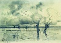 Весна. Журавли летят. 1880-е