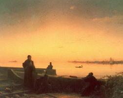 Мхитаристы на острове св. Лазаря (И.К. Айвазовский)