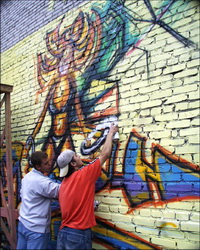 Процесс создания граффити