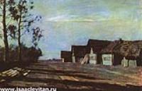 Лунная ночь. Деревня. 1897