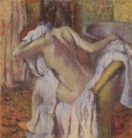 Дега (Degas) Эдгар После ванны. Женщина, вытирающая волосы