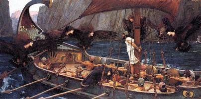 Одиссей и сирены (Дж.В. Уотерхаус)