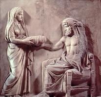 Рея приносит Кроносу камень вместо Зевса