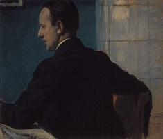 Портрет М.В. Добужинского (Б.М. Кустодиев)