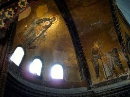 Остатки Византйских фресок в храме Святой Софии