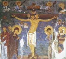 """""""Распятие Христа"""".Фреска из монастыря Студеница"""
