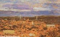 Пейзаж с монастырем. 1890-е