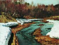 Весна. Последний снег. 1895