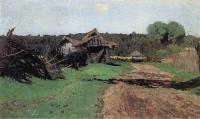 Въезд в деревню. 1884