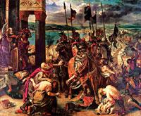 Взятие Константинополя крестоносцами (Э. Делакруа)