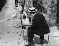 Жорж Сёра пишет картину