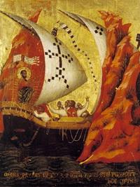 Сцена из жизни св. Марка (П. Венециано, 1345 г.)